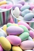 Easter Celebration Posters - Colorful pastel jordan almond candy Poster by Edward Fielding
