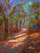 Dappled Light Digital Art - Colorful path by Aviral Jha