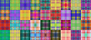 All - Colorful Plaid Panorama 1 by Andee Photography