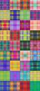 All - Colorful Plaid Panorama 2 by Andee Photography