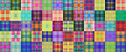 All - Colorful Plaid Panorama 3 by Andee Photography