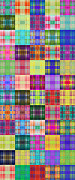 All - Colorful Plaid Panorama 4 by Andee Photography