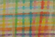 Horizontal Pastels Prints - Colorful Plaid Print by Thomasina Durkay