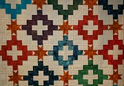 Homemade Quilts Photos - Colorful Quilt by Linda Albonico