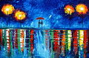 Colorful Rain Print by Mariana Stauffer