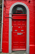 RicardMN Photography - Colorful red door on red...