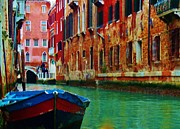 Old Relics Prints - Colorful Relics of Venice Print by Jan Moore