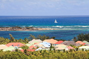 Seascape Art - Colorful Rooftops in St. Martin by Roupen  Baker