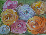 Nature Study Painting Metal Prints - Colorful roses Metal Print by Arun Dabholkar