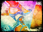 Shoe Digital Art - Colorful Shoes by Absinthe Art By Michelle LeAnn Scott