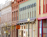 Store Fronts Photo Prints - Colorful Shops Quaint Street Scene Print by Ann Powell