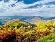 Scenic Drive Prints - Colorful Skyline Drive Print by Nick Zelinsky