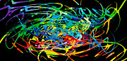 Speed Digital Art Originals - Colorful Spatters by Anand Purohit