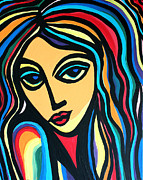 Cynthia Snyder Prints - Colorful Stare Print by Cynthia Snyder