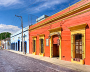 Colonial Scene Posters - Colorful Streets of Colonial Oaxaca Poster by Mark E Tisdale