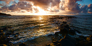 Kauai Island Posters - Colorful Sunrise over the Hawaii tropical island of Kauai with w Poster by ELITE IMAGE photography By Chad McDermott