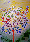 Jo Ann - Colorful tree with cat...