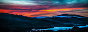 Mike Lee Metal Prints - Colorful Twilight Panorama Metal Print by Mike Lee