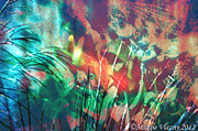 Maggie Vlazny Prints - Colorful Underwater Abstract Print by Maggie Vlazny