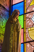 Religious Art Photos - Colorful Virgin Mary by Jess Kraft