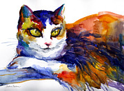 Svetlana Novikova - Colorful Watercolor Cat...