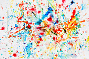 Creative Art - Colorful watercolor splash on white paper by Michal Bednarek