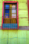 Painted Walls Prints - Colorful Window Print by Jess Kraft