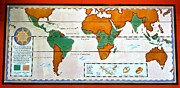 Map Art Photo Prints - Colorful World Map of Coffee Print by David Lee Thompson