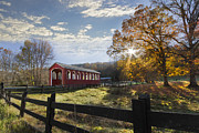 Tennessee Barn Prints - Colors Of Autumn Print by Debra and Dave Vanderlaan