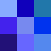 Pigment Posters - Colors of Blue Poster by Karon Melillo DeVega