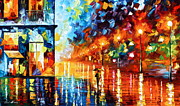 Building Painting Originals - Colors of Calmness by Leonid Afremov