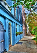 Rainbow Row Framed Prints - Colors Of Charleston 4 Framed Print by Mel Steinhauer