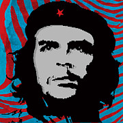 Che Prints - Colors of Che No.4 Print by Bobbi Freelance