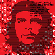 Che Guevara Posters - Colors of Che No.6 Poster by Bobbi Freelance