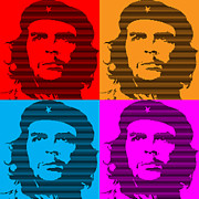 Che Guevara Posters - Colors of Che No.7 Poster by Bobbi Freelance
