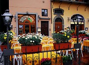 Cafes Posters - Colors Of Italy Poster by Mel Steinhauer