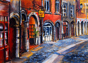 Urban Buildings Pastels Posters - Colors Of Lyon 2 Poster by EMONA Art
