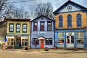 Storefronts Prints - Colors Of Metamora 2 Print by Mel Steinhauer
