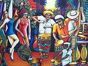 Drummers Prints - Colors of Miami Print by Arturo Cisneros