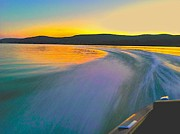 Otsego Lake Posters - Colors Of My Wake Poster by Bill Miller