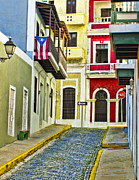 San Juan Alley Posters - Colors of Old San Juan Poster by Carter Jones