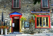 Pubs Prints - Colors Of Quebec 11 Print by Mel Steinhauer