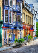Red Buildings Prints - Colors Of Quebec 15 Print by Mel Steinhauer