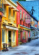 City Streets Photos - Colors Of Quebec 20 by Mel Steinhauer
