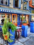 Pubs Prints - Colors Of Quebec 7 Print by Mel Steinhauer