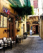Storefronts Prints - Colors Of Rhodes Print by Mel Steinhauer