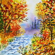 Russia Paintings - Colors Of Russia Autumn  by Irina Sztukowski