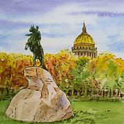 Russia Paintings - Colors Of Russia Monuments of Saint Petersburg by Irina Sztukowski