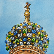 Russia Paintings - Colors Of Russia St Petersburg Cathedral III by Irina Sztukowski