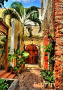 Brick Walls Prints - Colors Of Saint Thomas 1 Print by Mel Steinhauer